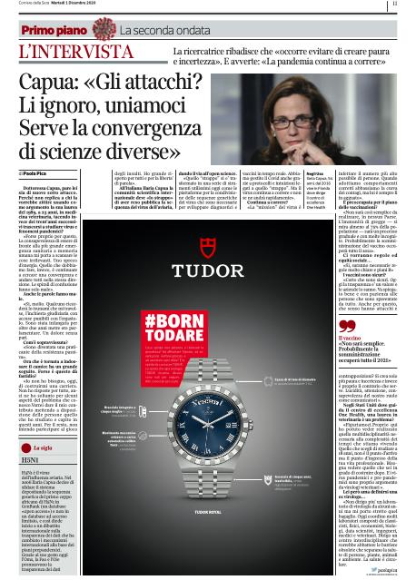 Ilaria Capua - Media & Press - Gli attacchi? Li ignoro, uniamoci, serve la convergenza di scienze diverse
